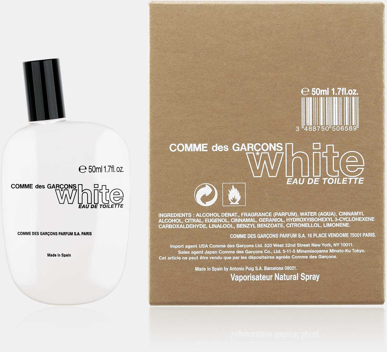 White - Eau de Toilette (50 ml natural spray)